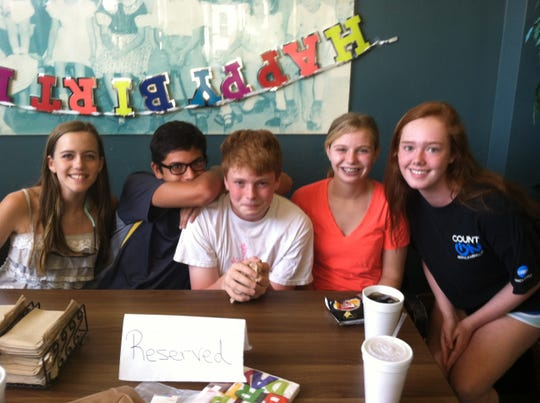 That table at Fino's is where my son celebrated his 13-year-old birthday, surrounded by his goofy middle school buddies.