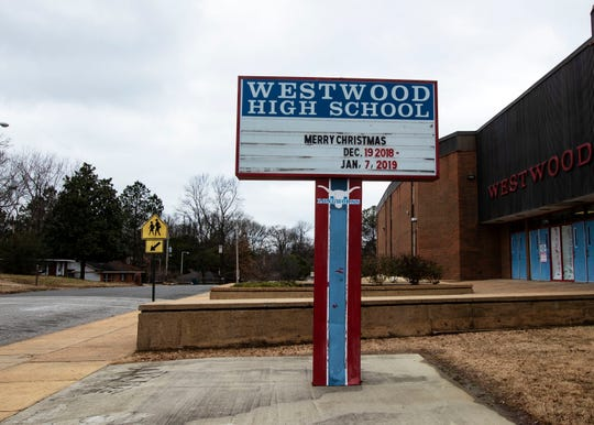 Westwood High School, a two-story brick building in the 38109 area code is one of the 28 Shelby County schools outgoing Superintendent Dorsey Hopson proposed to close.