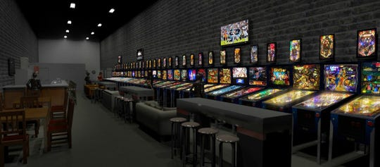 Rendering of Yopp's Pub, a pinball pub coming to Broad Avenue in 2019