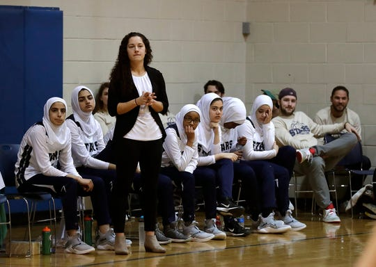 The girls basketball team at Salam School, a traditional Islamic school associated with the Islamic Society of Milwaukee, is having a good year. The girls play in hijab and sweats.