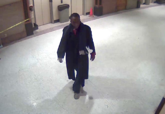 Donald J. Lovett was caught on a security camera.