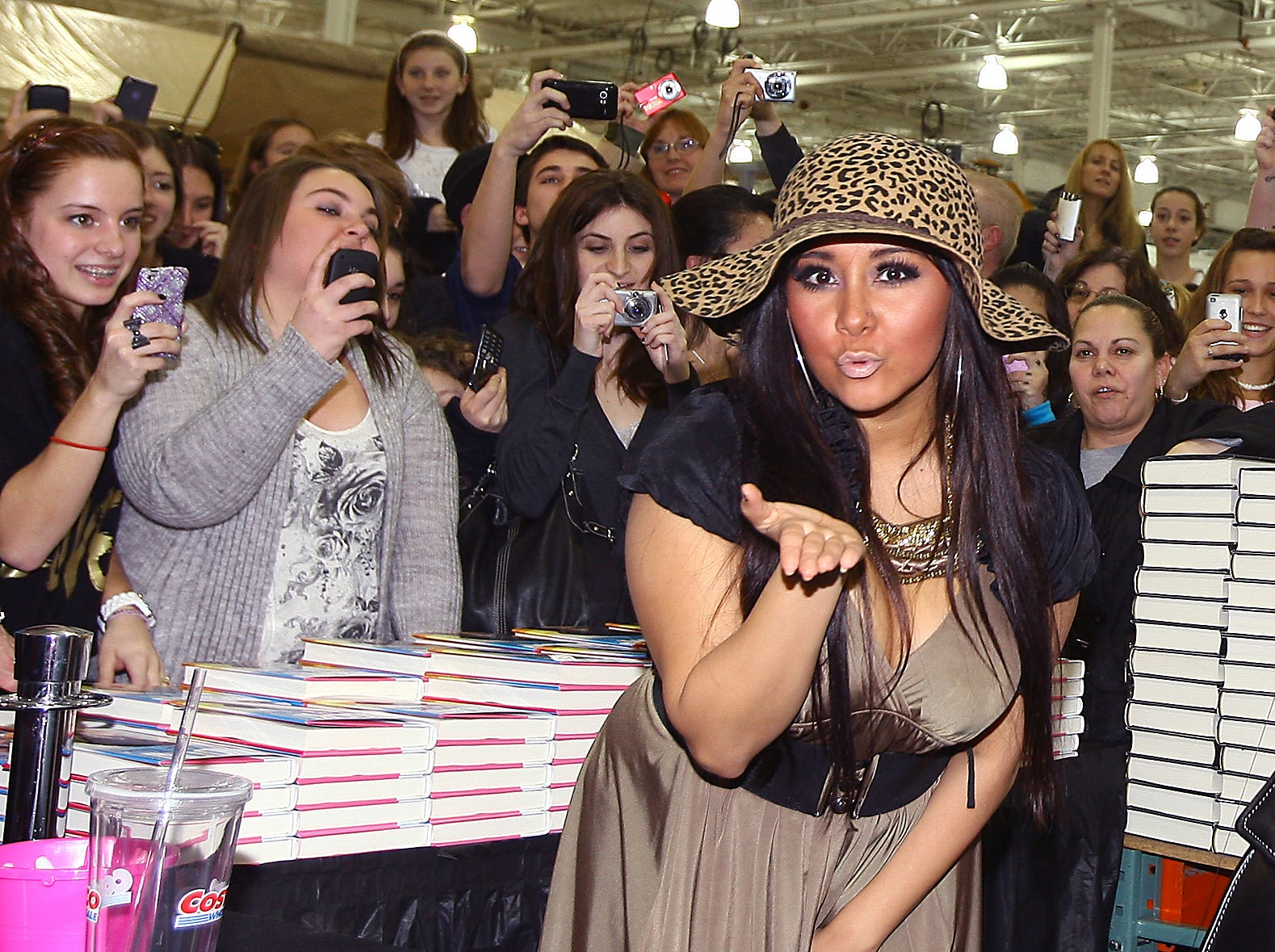 "East Hanover, February 26, 2011--Hundreds of MTV's ""Jersey Shore"" fans came out to COSTCO on Route 10 in East Hanover to meet Nicole ""Snooki"" Polizzi who blew kisses and signed copies of her new book, 'A Shore Thing.'