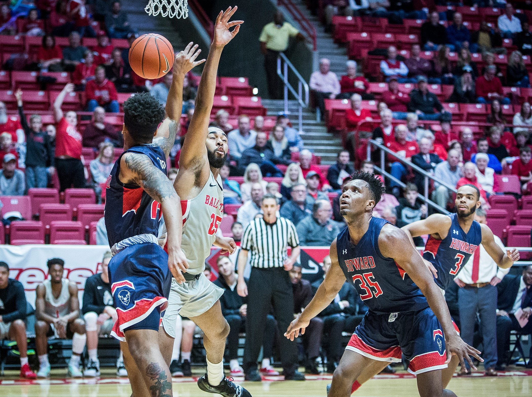 Ball State faces off against Howard during their game at Worthen Arena Thursday, Dec. 20, 2018.