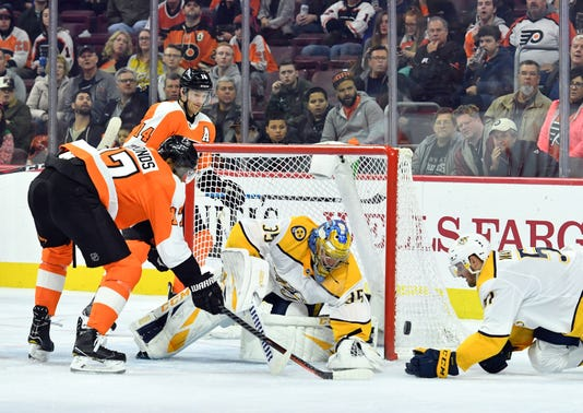 Nhl Nashville Predators At Philadelphia Flyers