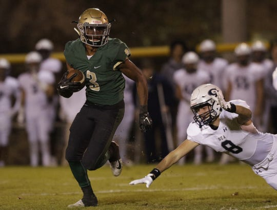 Notre Dame athlete Cameron Wynn (3) is the state's 21st ranked prospect.