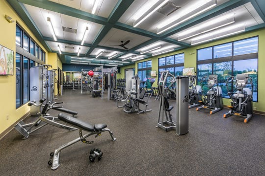 The Farmhouse at Durham Farms features a well-equipped fitness center.