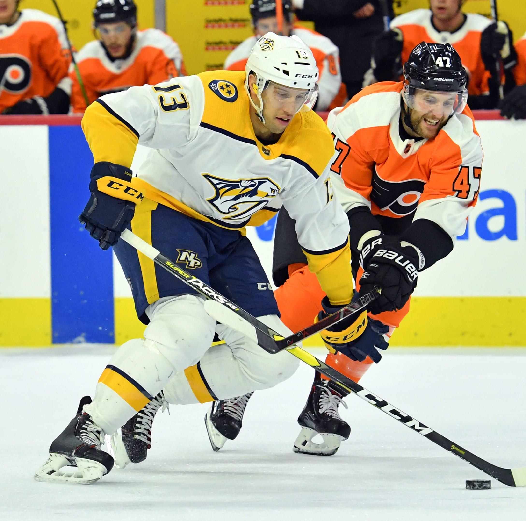 Thursday's recap: Flyers 2, Predators 1