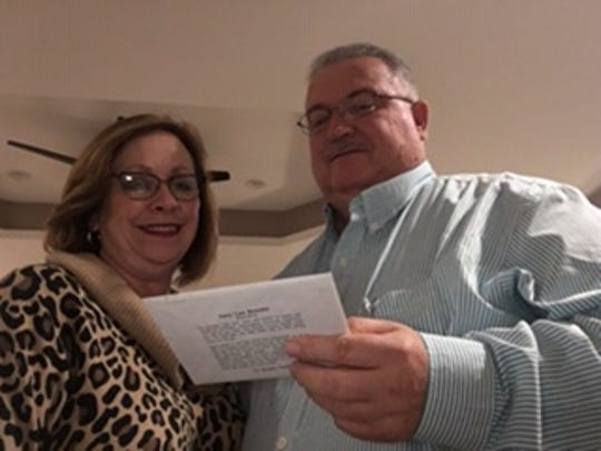Keith and Renee McBee of Gruetli-Laager, who will be married 40 years in February, have received 39 wedding anniversary cards from Gary Bouldin, plus his annual Christmas card.