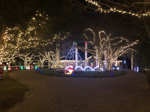 A photo from the McQuade family home in the 11000 block of Ranchette Road  in Fort - Where To Find The Best Christmas Light Displays In Collier And Lee