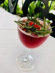 """""""The Proper Poinsettia"""" is a wine-based cocktail made with Schramsberg Blanc des Blancs."""