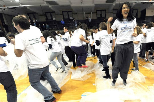 Hawthorne High School set a world record on Bubble Wrap Appreciation Day, in January 2013, for having the most people pop Bubble Wrap at the same time: 366 students. The current record-holder is a group of Boy Scouts in Colorado.