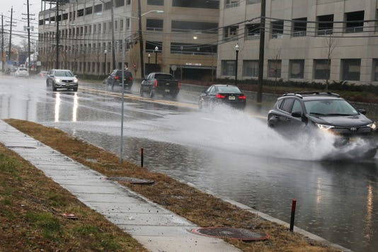 Overnight Rain Continued Through The Morning Causing Flooding In Ceratin Area Of Bergen And Passaic Counties