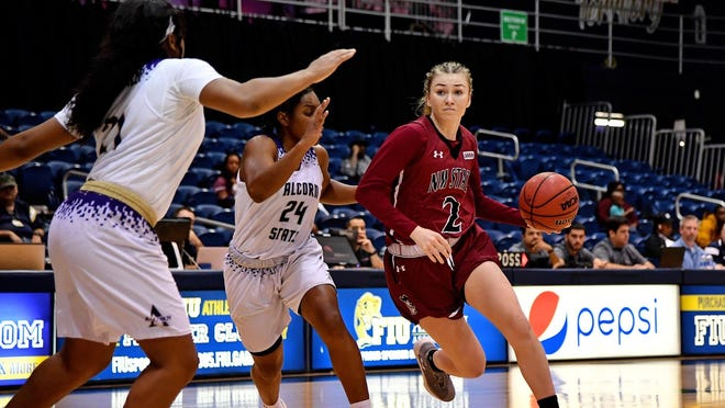 Brooke Salas recorded a triple double in New Mexico State's victory over Alcorn State on Friday.