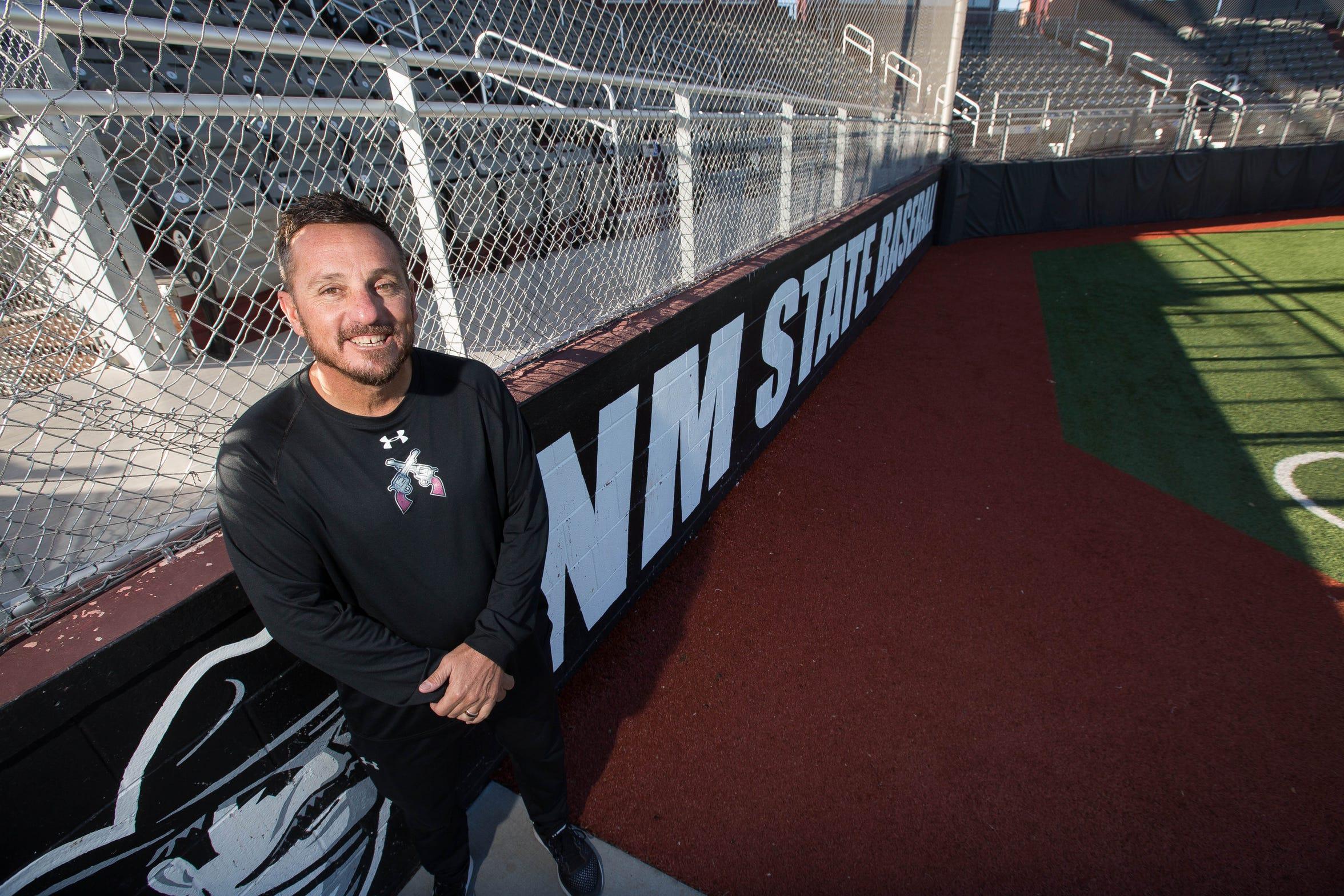 NMSU baseball coach Brian Green.