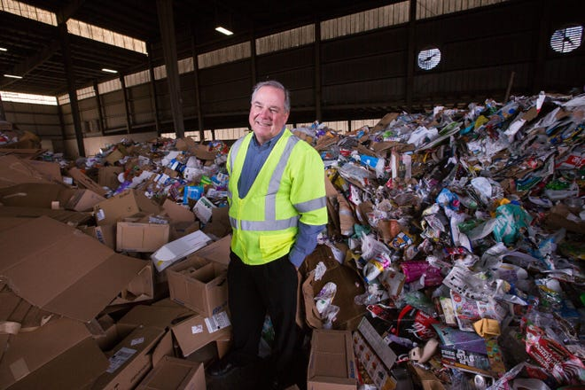 Patrick Peck, at the Southwest Waste Disposal facility on west Amador Avenue, has been leading the South Central Solid Waste Authority since 2008.