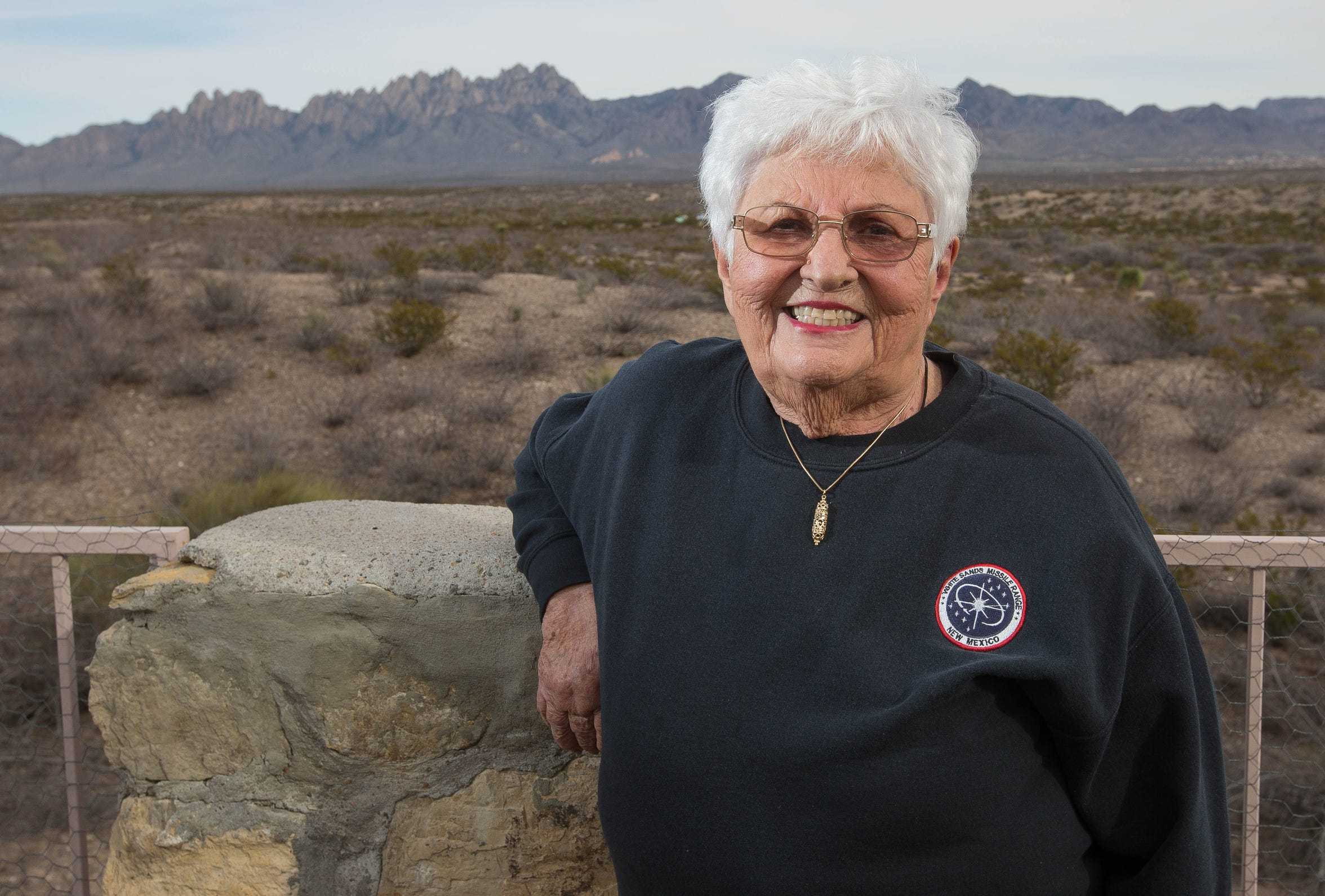 Frances Williams, the Las Cruces Sun News distinguished resident of 2018. Friday December 21, 2018 on the patio of her house.