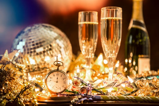 New Year S Eve Holiday Party Pocket Watch Clock At Midnight