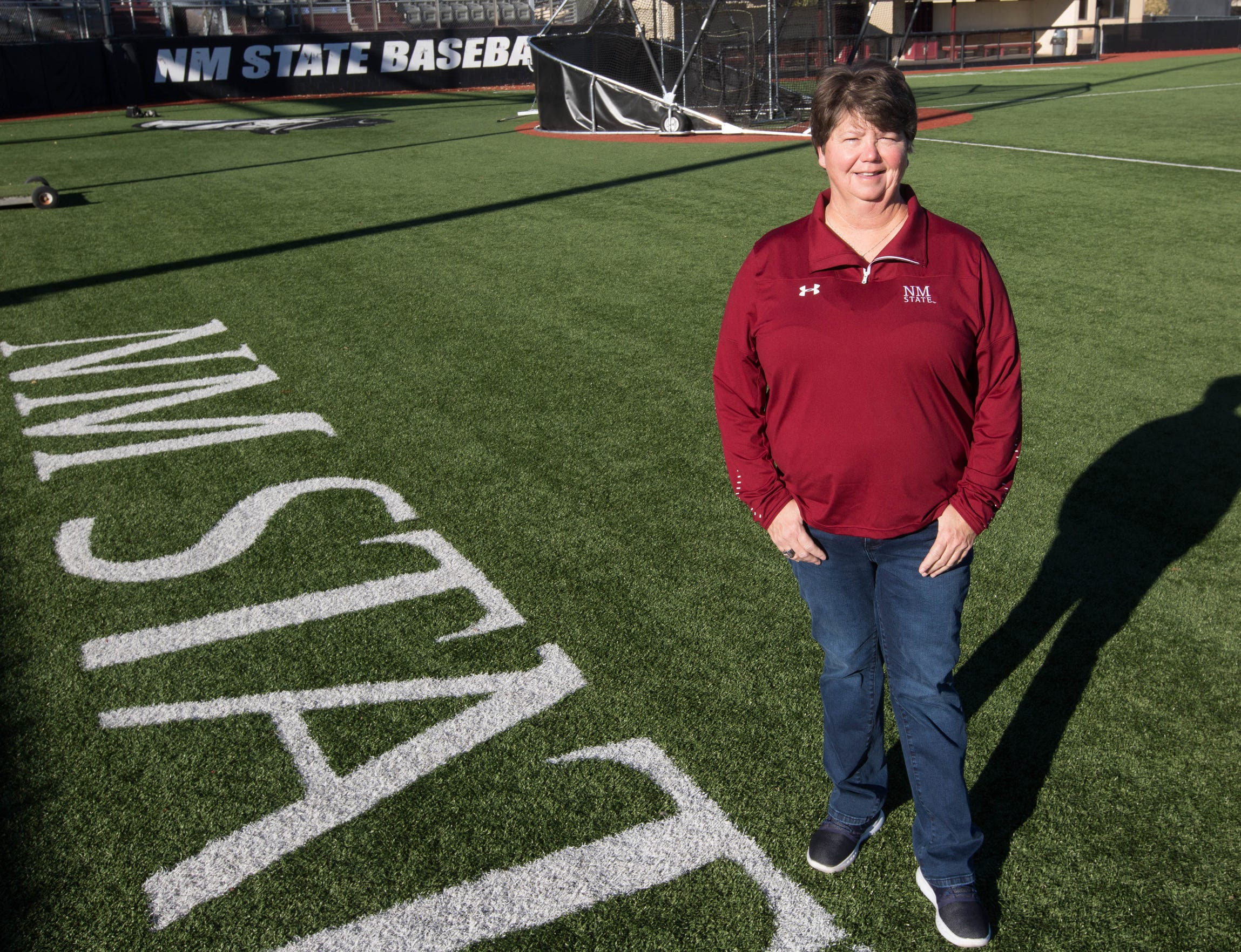 NMSU softball coach Kathy Rodolph
