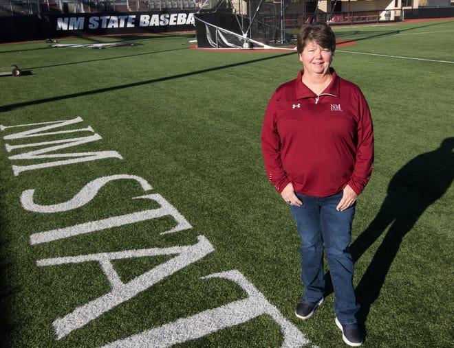 NMSU softball coach Kathy Rodolph