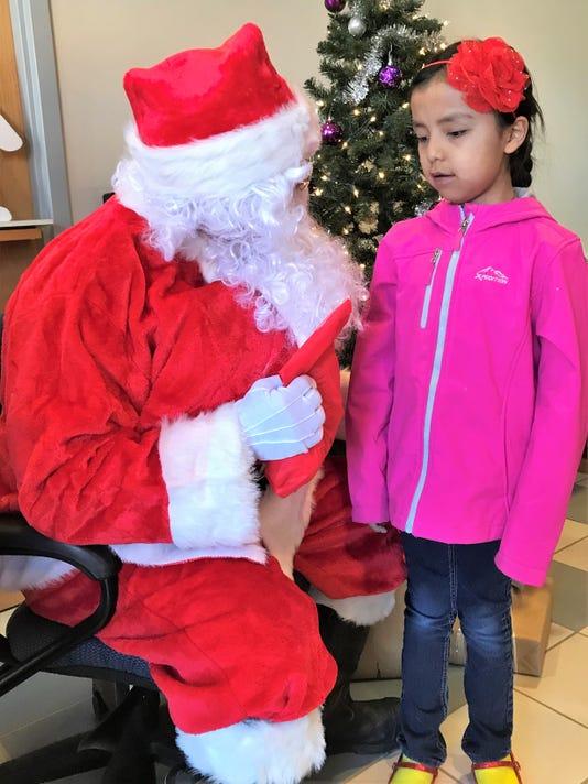 santa and child mescalero