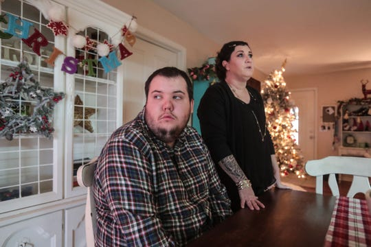Rebecca Kelley is suing Bright Futures Academy after an alleged bullying incident in 2015. She says the incident caused her son, Kyler Leagon, to flee the campus and get hit by a car. Photo taken at their home on Dec. 6, 2018.