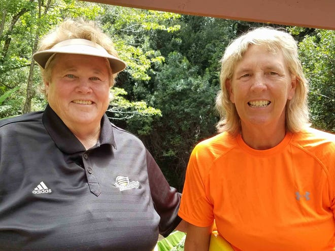 Patty Meyers, left, was an accomplished player and coach in numerous sports and the older sister of basketball stars Ann Meyers Drysdale and David Meyers. Meyers, seen here with her wife Kim Bueltel, died Dec. 14 after living in Palm Springs for 21 years.