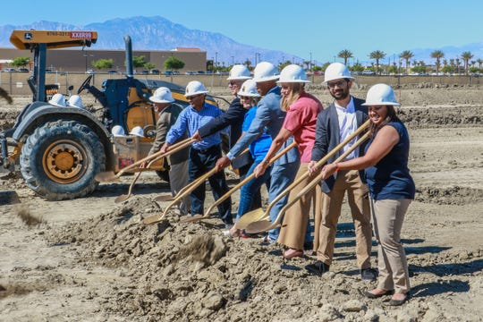 City and business leaders break ground on a new Hampton Inn being built in Indio.