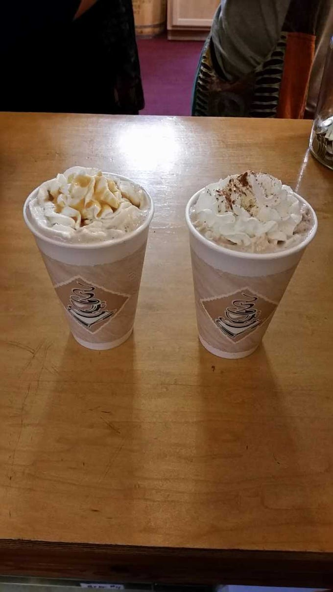 Buy some lattes at Merlin's Coffee located at South Franklin St.