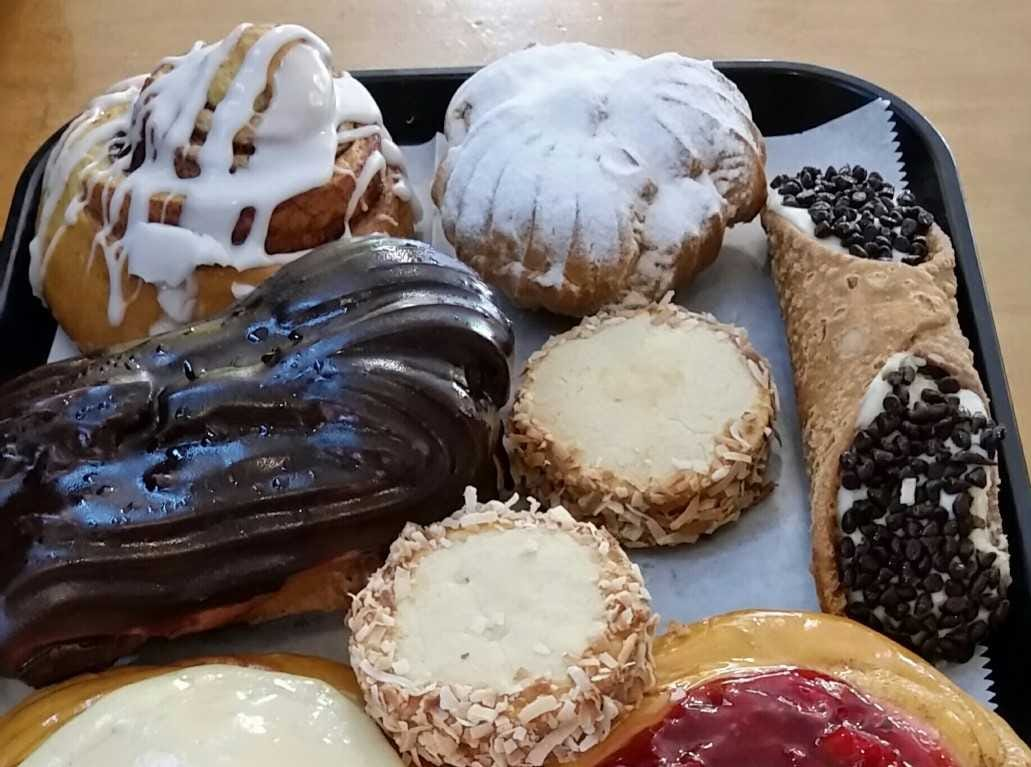 An assortment of pastries from Merlin's Coffee located at 10 South Franklin St.