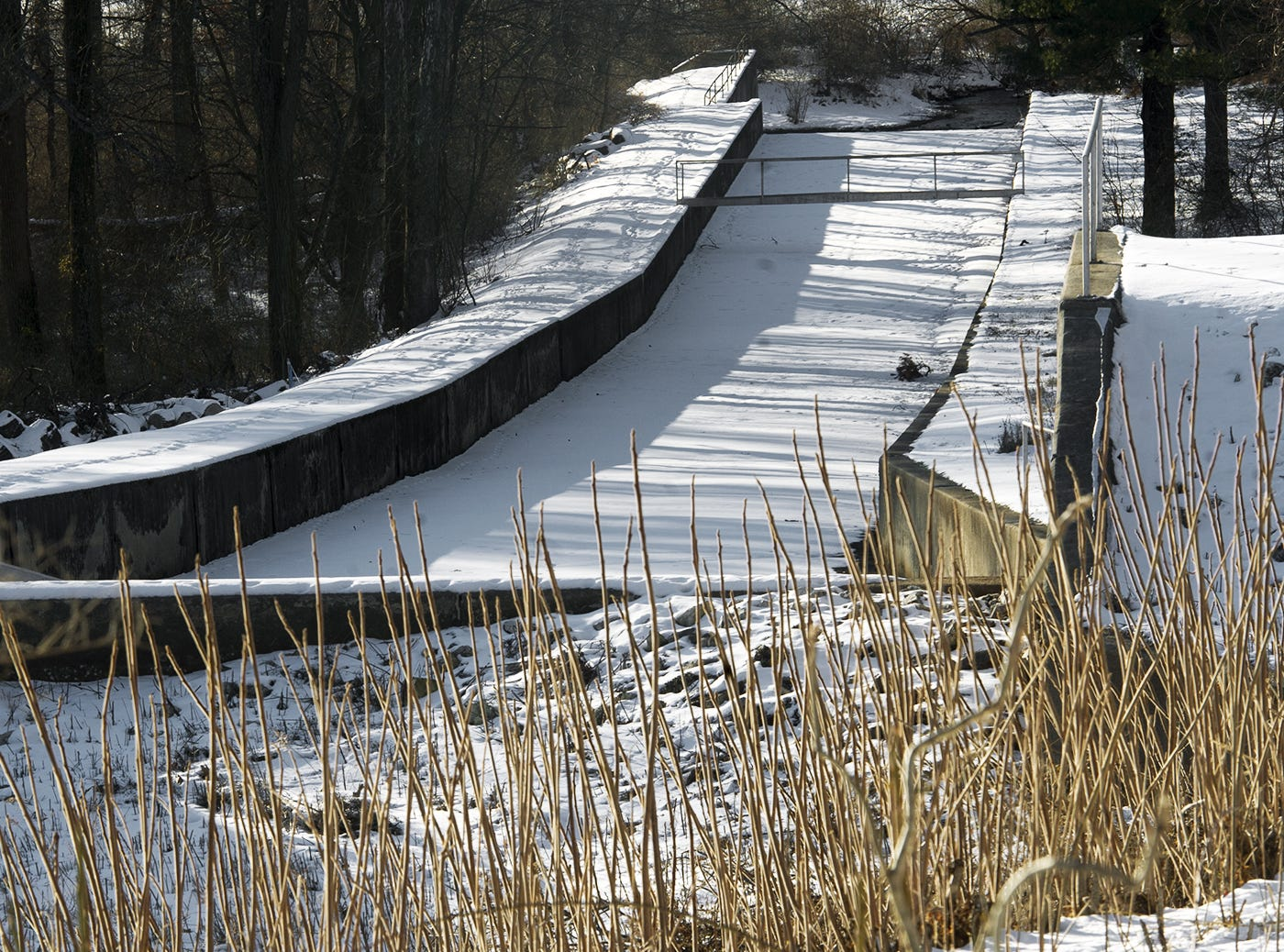 Part of a spillway at Lake Lehman in North Codorus Township Wednesday January 29, 2014.