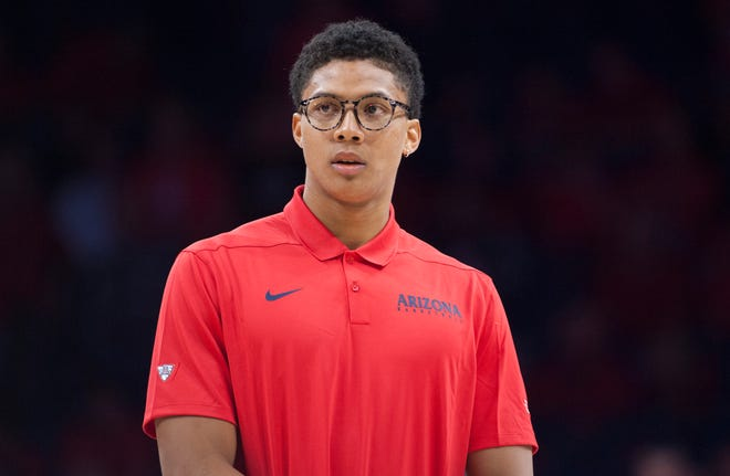 Arizona Wildcats forward Ira Lee (11) stands on the court before the game against the Houston Baptist Huskies at McKale Center on Nov. 7, 2018.