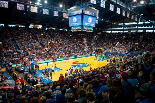 Ncaa Basketball Arizona State At Kansas