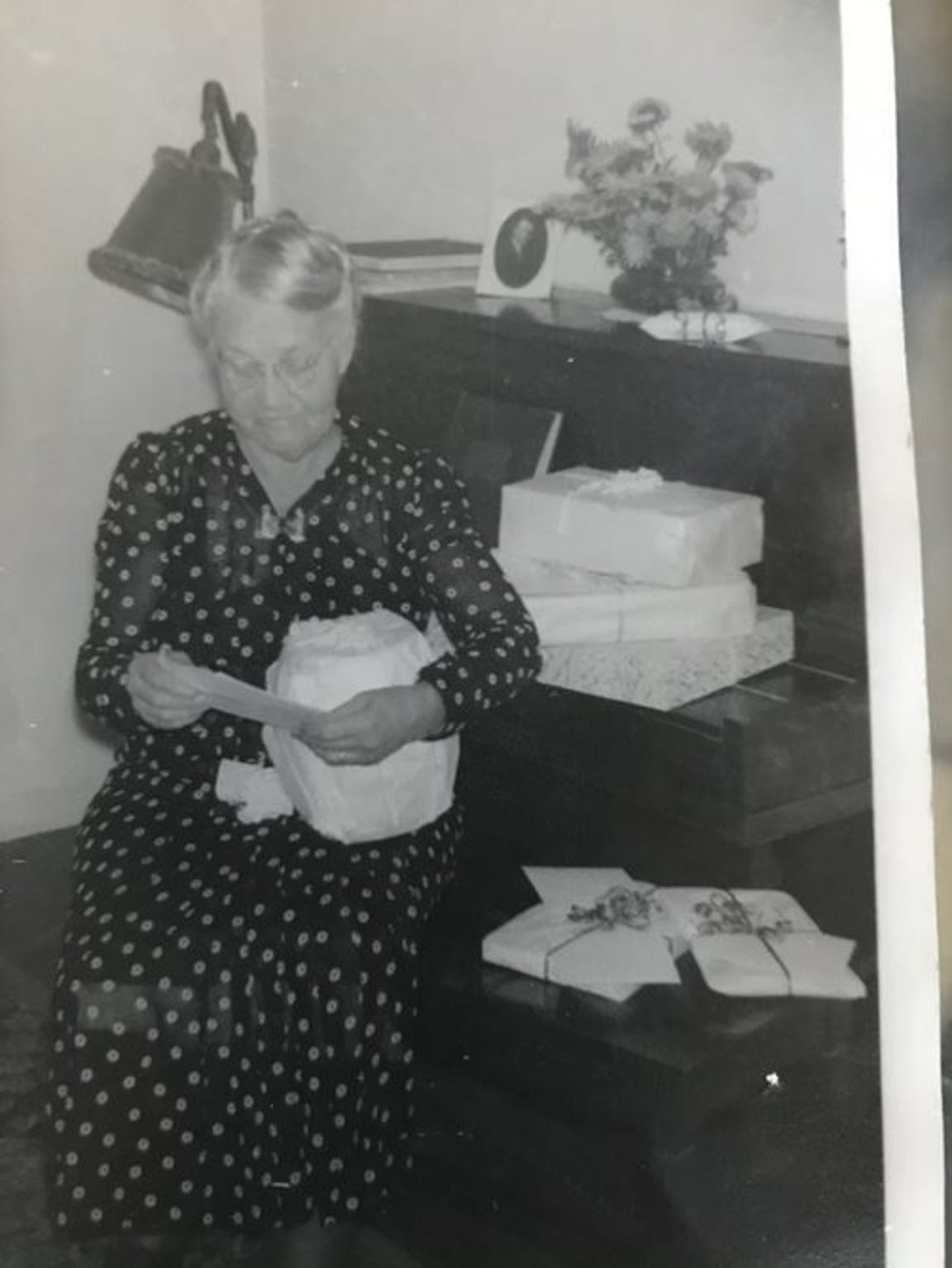 Marie Soderstrom, Sharon's adoptive grandmother, in an undated photo. She was the mother of Faith Morrow, who adopted the Hatbox Baby two months after the child was found abandoned in the desert.