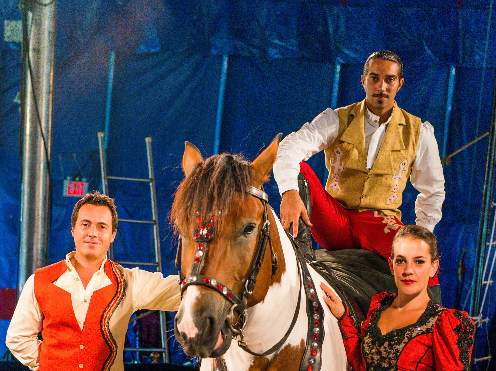 Zoppe: An Italian Family Circus has traditional acts such as equestrian performers.