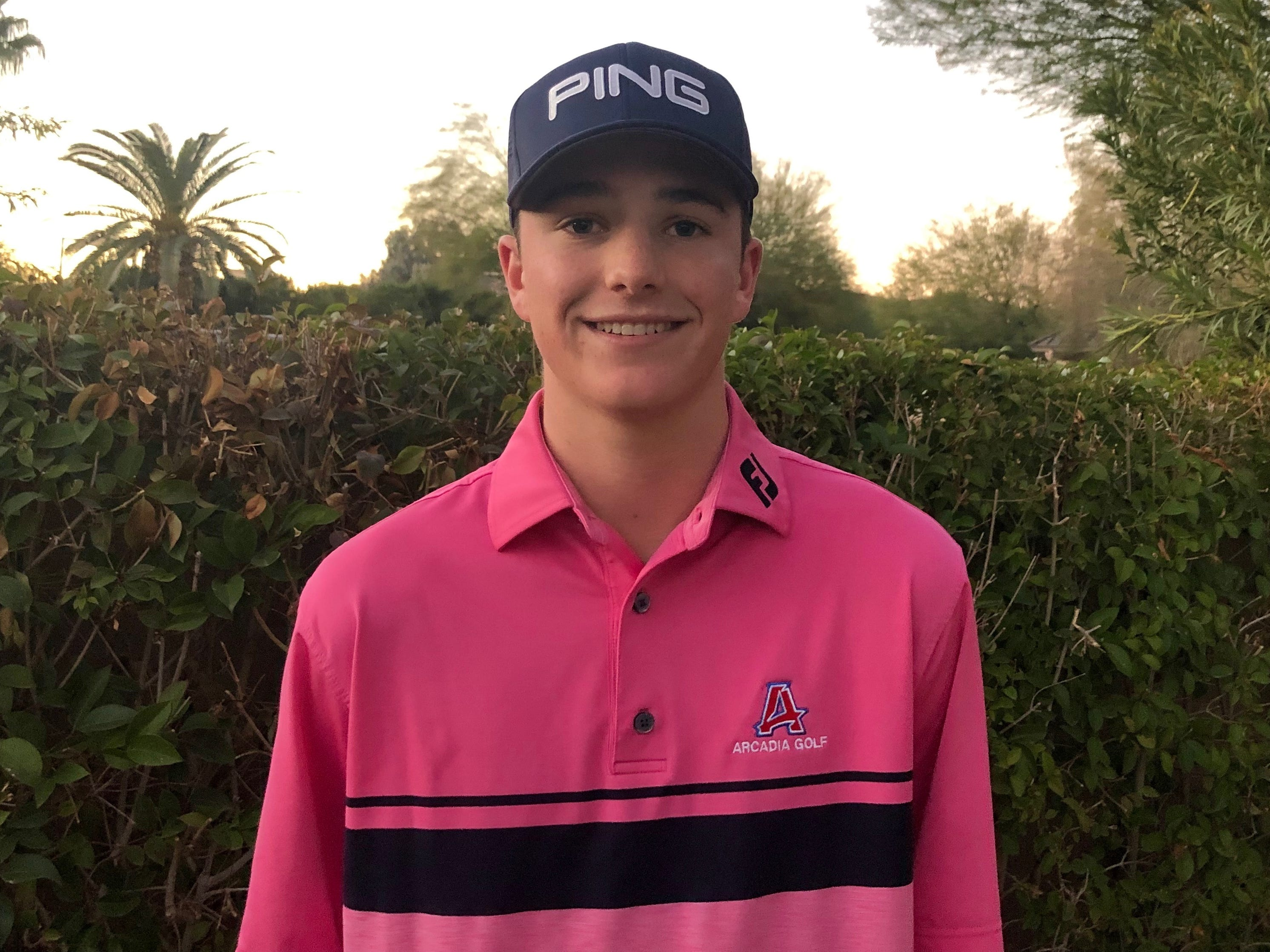 Tucker Clark of Arcadia boys golf azcentral Sports Awards