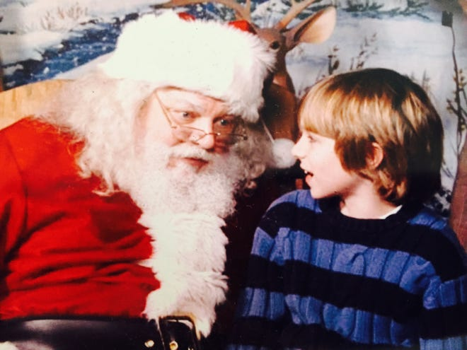 Sawyer Bland chats with Santa Claus in 2007.