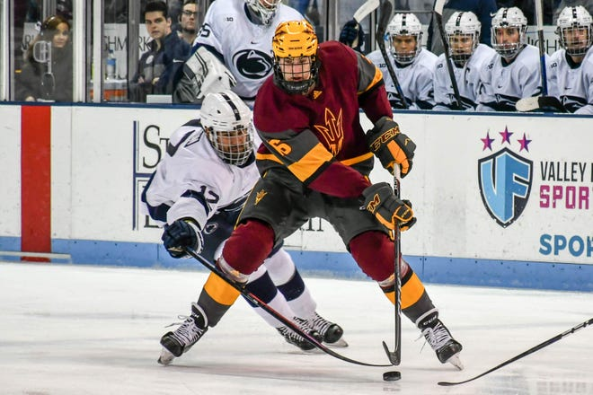 Redshirt freshman forward Austin Lemieux has four goals and 11 points for No. 15 ASU hockey, which is contending for a NCAA Tournament berth.