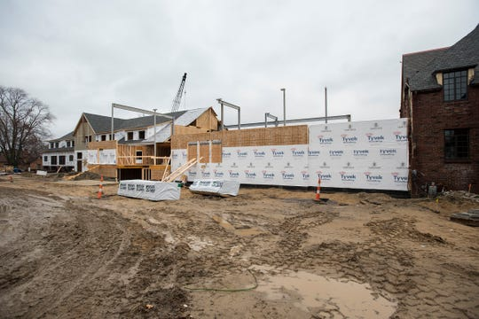 Construction progressing on the north end of the St. Clair Inn. The inn got a visit from Marriott officials last week.