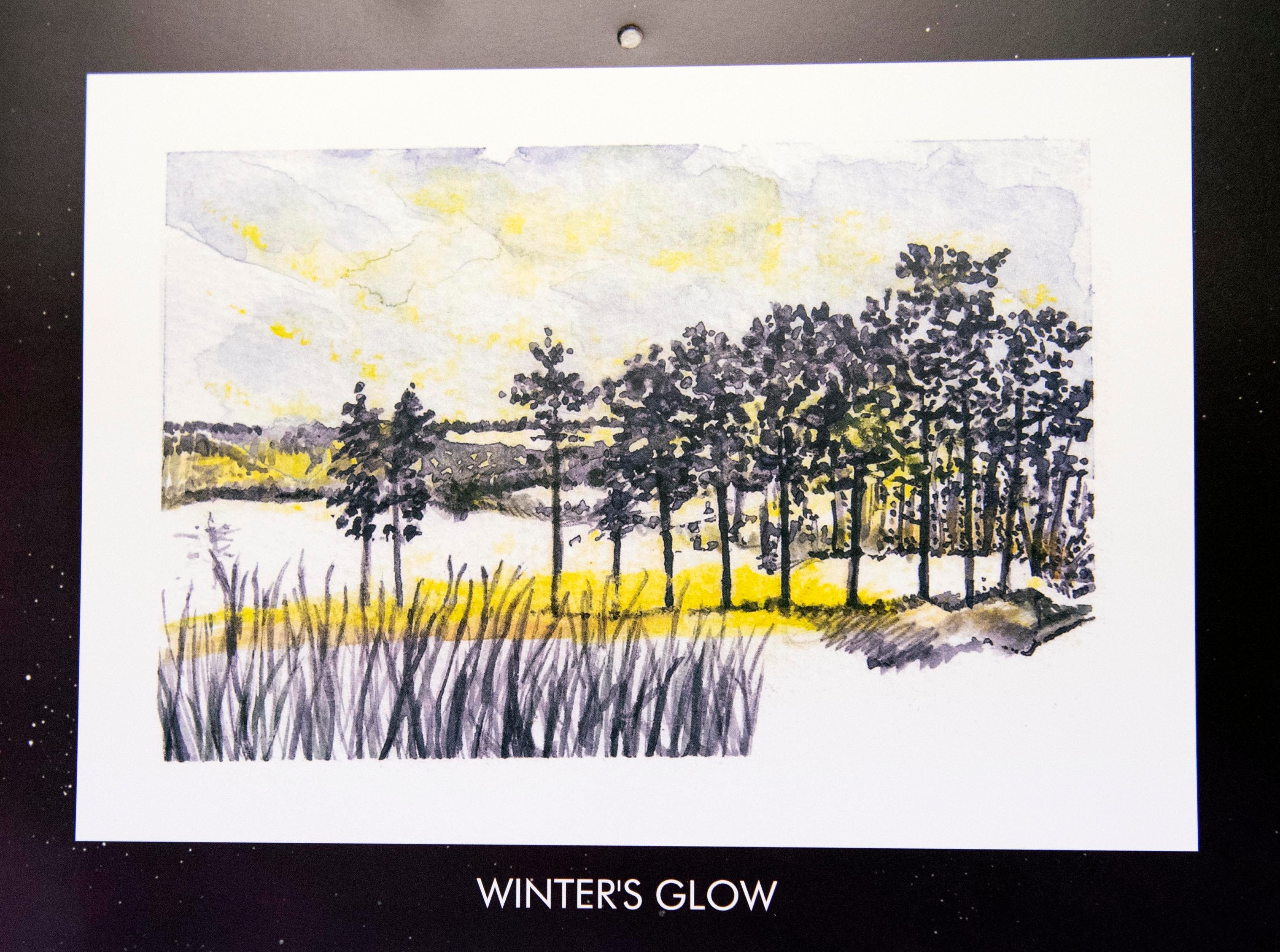 Mary Magenta said that she's not the biggest fan of winter, but does love to see the last bit of winter light kiss the snow, seen here in her painting. Magenta's 2019 calendar, 'Around Here,' features many places from York County.