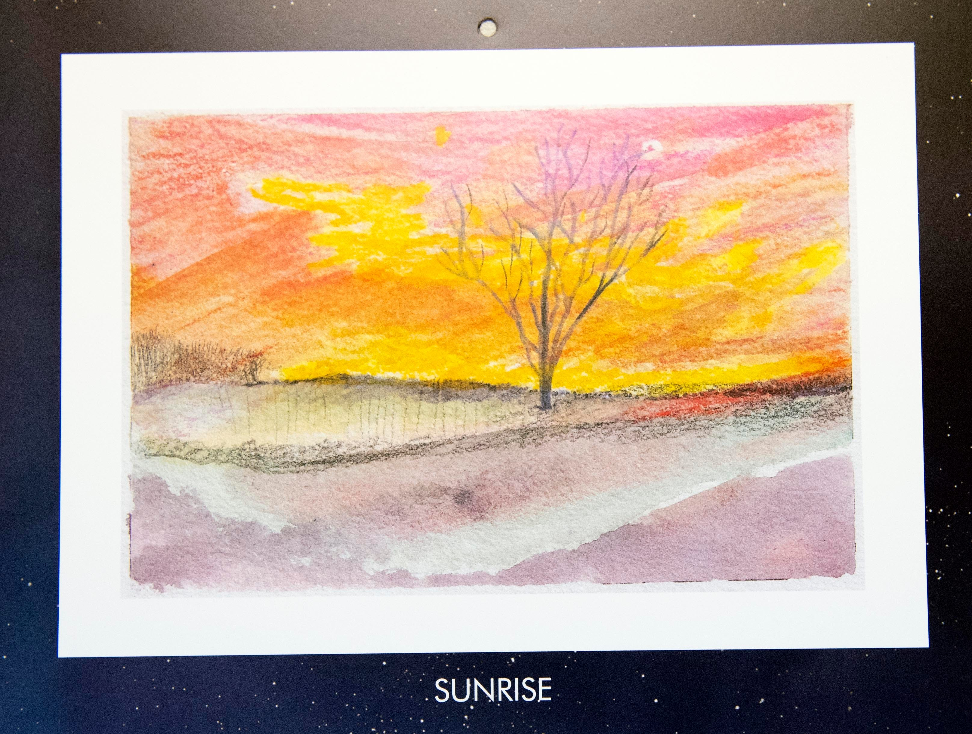 This painting is the view artist Mary Magenta sees every morning from her New Freedom home. Magenta's 2019 calendar, 'Around Here,' features many places from York County.