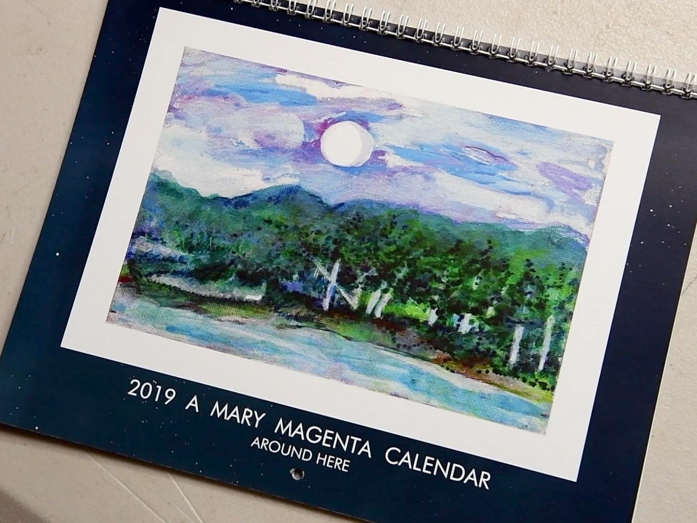 Local artist Mary Magenta's 2019 calendar 'Around Here' features nature scenes from around York county.