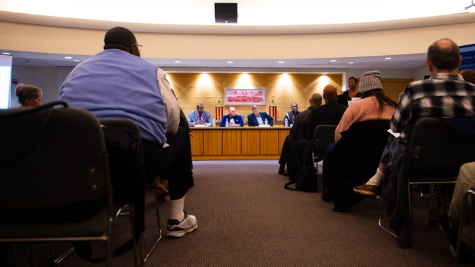 The second No Hate in Our State town hall meeting was held at the West Manchester Township Building where six panelists discussed York County's racism problem, December 20, 2018.