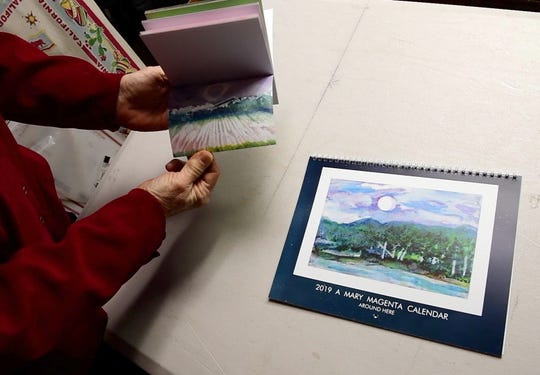 Mary Magenta's new calendar, 'Around Here,' highlights spots around York County that she has hiked, biked or kayaked.