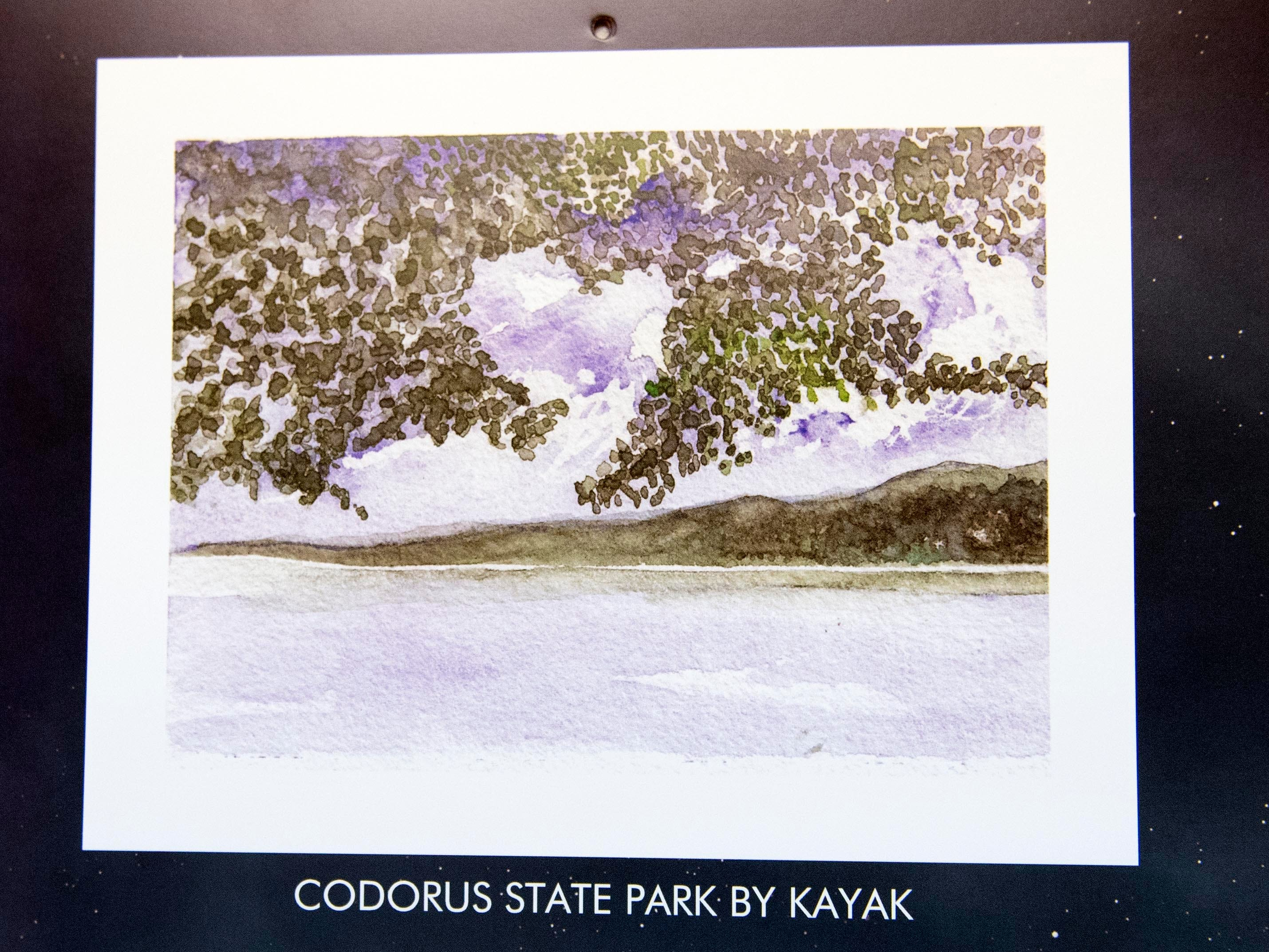 Artist Mary Magenta said that this painting of Codorus State Park, in Hanover, is one of her favorites from the 2019 calendar. Magenta's 2019 calendar, 'Around Here,' features many places from York County.