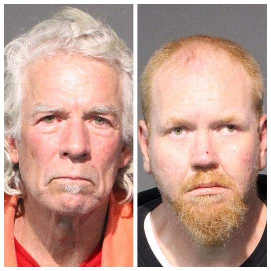 Mug shot photos of Kelly Sturgill, 58, and Robert Marker, 40, both of whom were arrested or petty larceny.