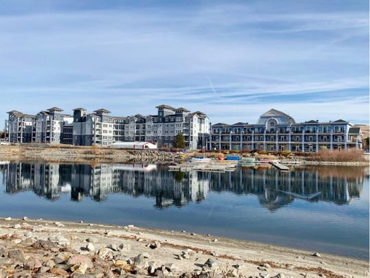 The Marina Town Centre at Sparks Marina, right, is going to house Sparks Water Bar. The Waterfront at the Marina Apartments lie adjacent.