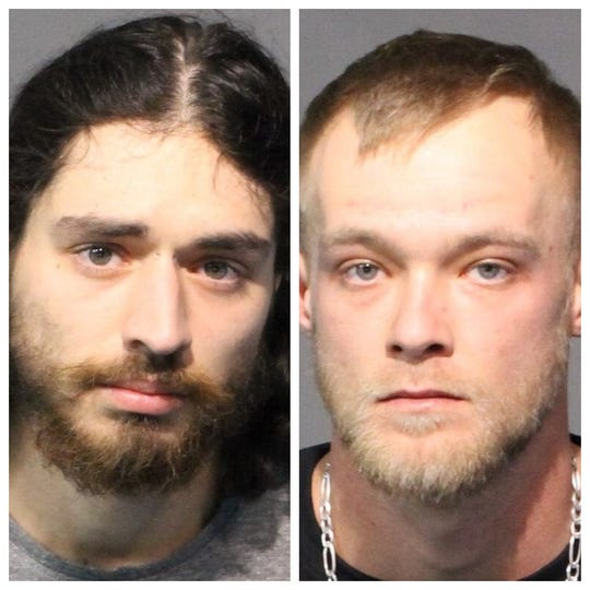 Mug shot photos of Geoffrey Mankel, 23, and Joseph Dunn, 24, both of whom were arrested on assault-related charges.