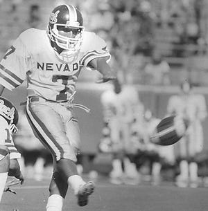 Marty Zendejas kicked for Nevada from the 1984 through 1987 seasons. He is the leading scorer in program history.