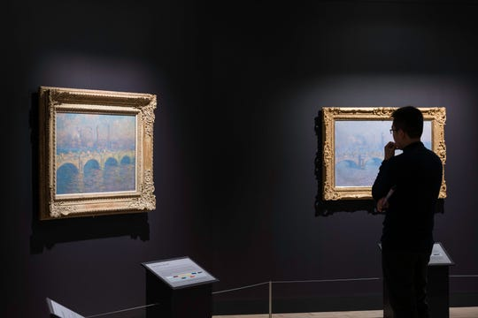 "Claude Monet's ""Waterloo Bridge"" series includes the example from MAG's collection along with seven others borrowed from North American sister institutions."