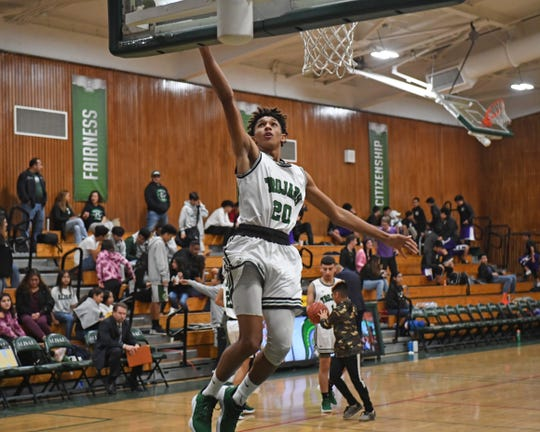 Alisal guard Izahias Carrillo, shown here playing against Soledad in 2018, led the Trojans in scoring in their first division win of the season last week.
